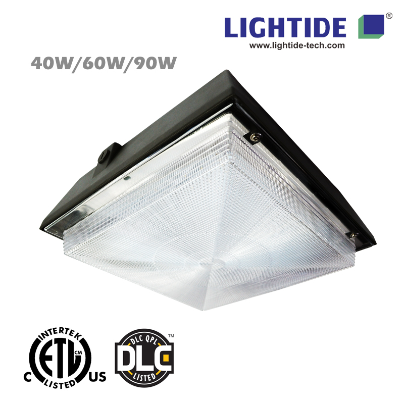 ETL/cETL Listed LED Canopy Lights, 60W/7000lm, Replace 150W MH, 5 Years Warranty