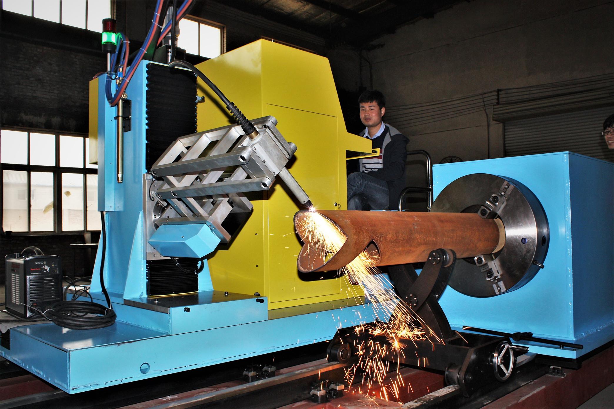 CNC plasma pipe cutting machine square tube cutter