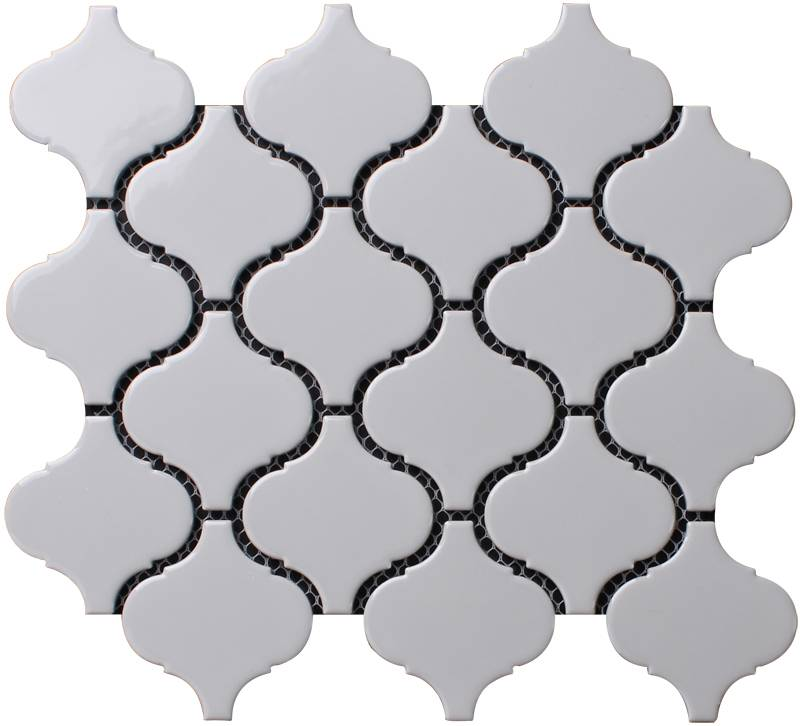Beveled Arabesque Glazed Ceramic Wall Tile