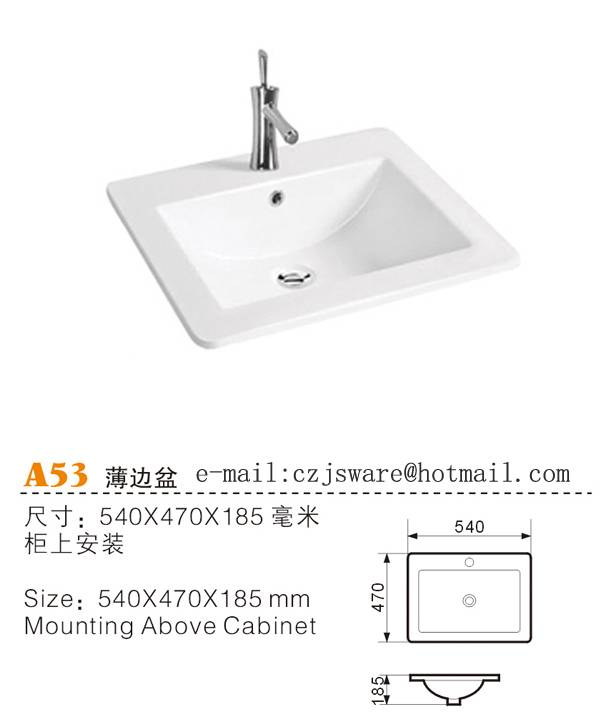 Sell thin edge basin, cabinet basin,counter top basin manufacturers &suppliers from China