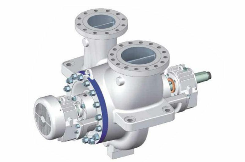 API610 BB2 single stage double suction and between bearings, radial split pump