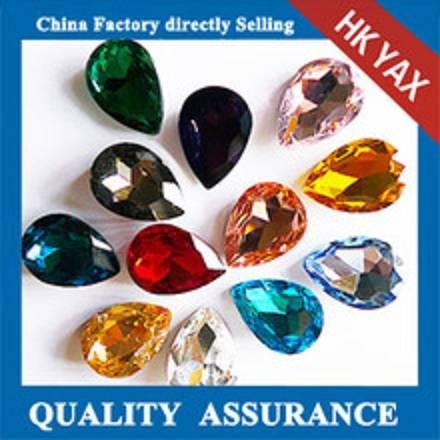D0928 China Factory Teardrop crystal fancy stone MC