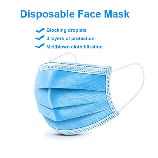 3 PLY NON WOVEN DISPOSABLE FACE MASK FOR SALE