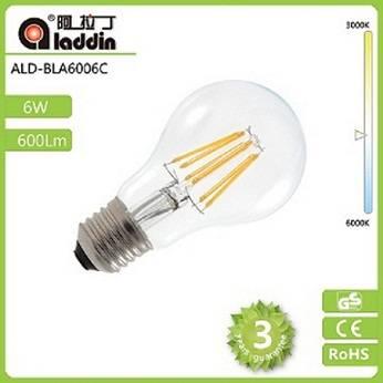 Newest110lm/w led filament bulb E27