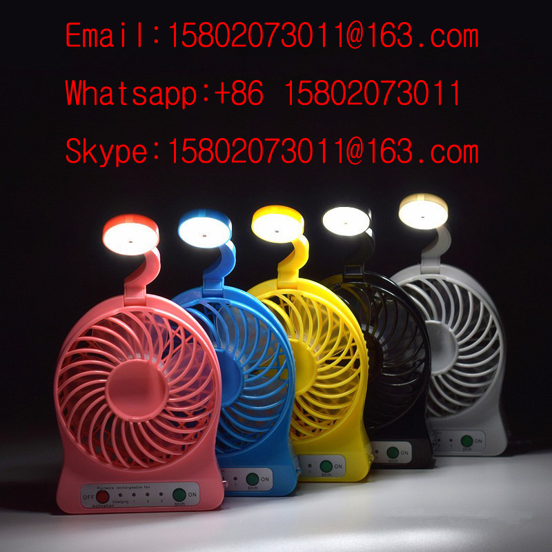 Portable multi-functional table lamp, rechargeable mini fans LED Lights