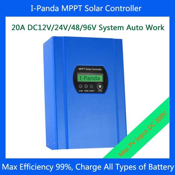 20A 12v 24v 48v 96V Solar controller MPPT solar charge controller wind solar charge controller