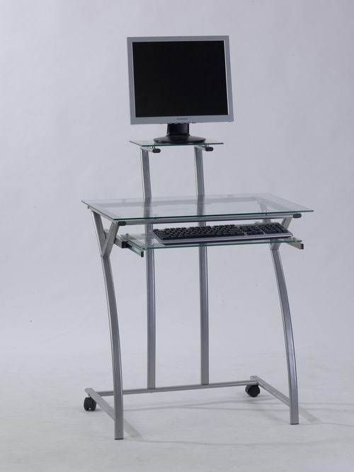 Best Selling Glass And Steel Computer Desk Model0922