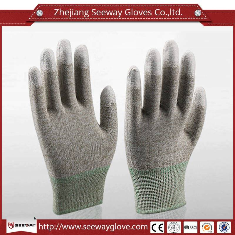 SeeWay Dipped Gloves Conductive Gloves PU Coated Gloves Copper Fiber