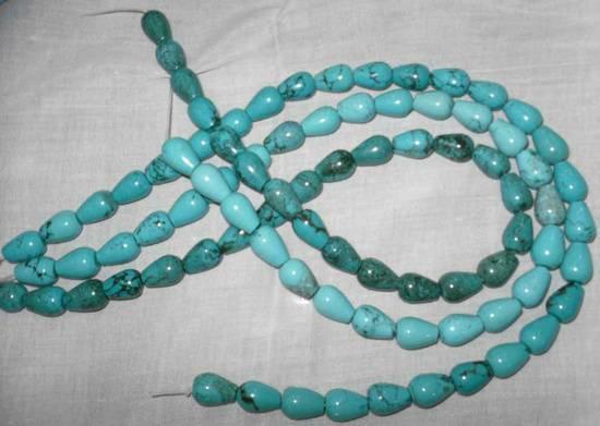 turquoise drop beads\gemstones\precious stones
