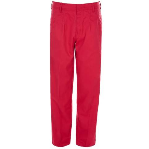 EN 11611 and EN 11612 compliant red flame resistant trousers welding trousers