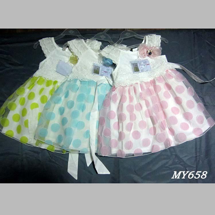 Latest kids fashion wear cheap flower girl dresses 2017