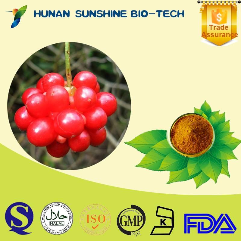 Natrual Schisandra Extract 2% Schisandrins/Schisandrin for liver protection