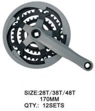 crank and chainwheel