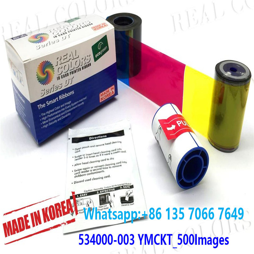 Compatible Datacard Ribbon 534000-003 YMCKT 500 Prints and Cleaning Kits SD260 SD360 SD460 SP75 SP35