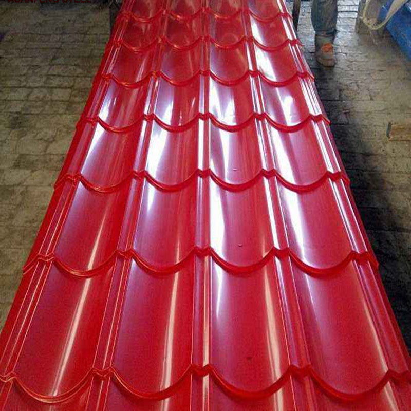 High Quality Red Color Glazed Steel Roofing Tile for Construction