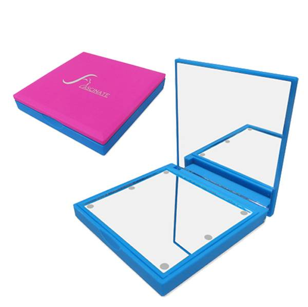 LED Lighted Makeup Mirrors with Two Plane Sides, Good Feel Rubber Oil