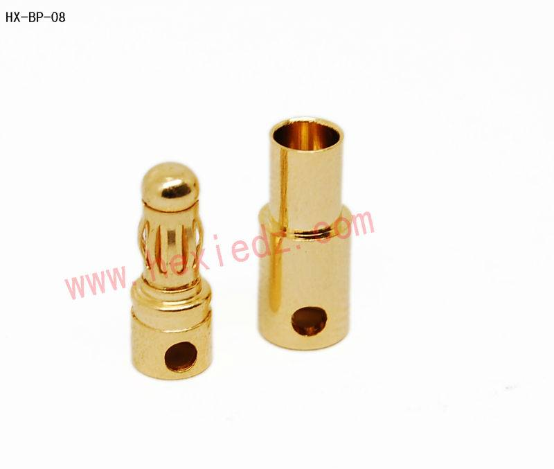 3.5 gold plated connector male and female