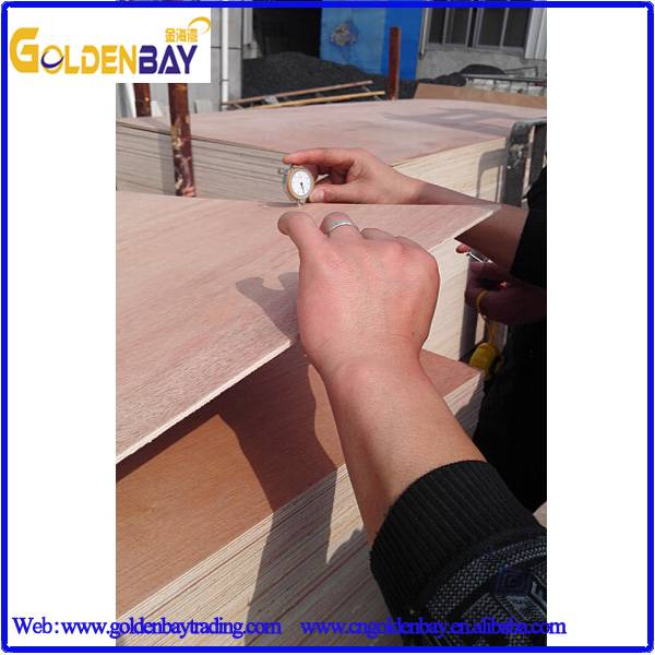 Red-hardwood poplar combi okoume bintangor commercial plywood from Linyi Shandong China