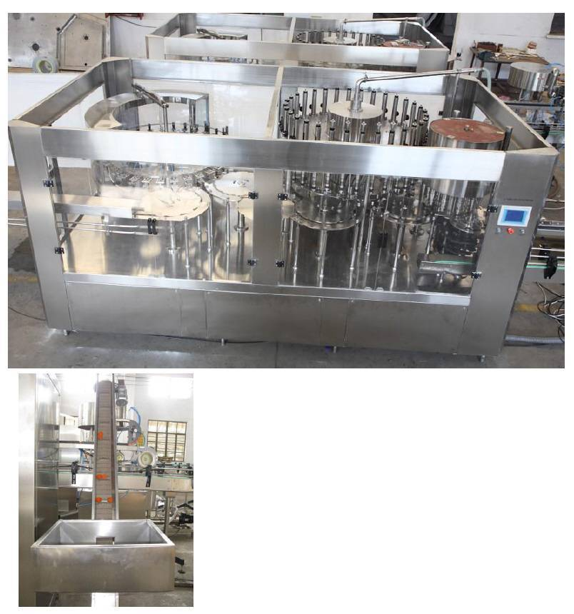 whole set equipment for bottled water and soft drinks