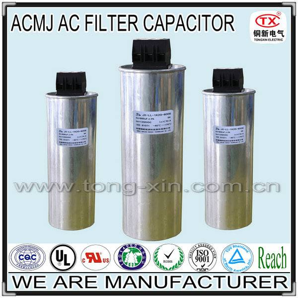 2014 Best Seller Overpressure Protection and Anti-Explosion ACMJ AC Filter Capacitor