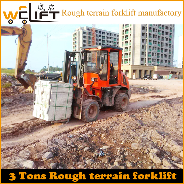 3 T rough terrain forklift