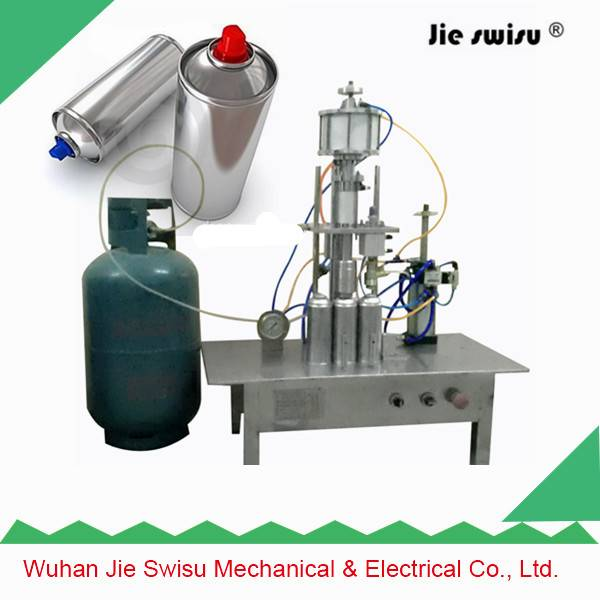 CJXH-800 2 in 1 type Aerosol can spray filling machine