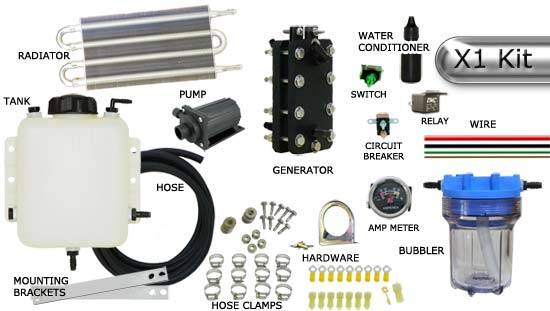 Extreme 180 X1 - 3 Cell 4 Plate Dry Cell HHO Generator (COMPLETE KIT) with Cooling System