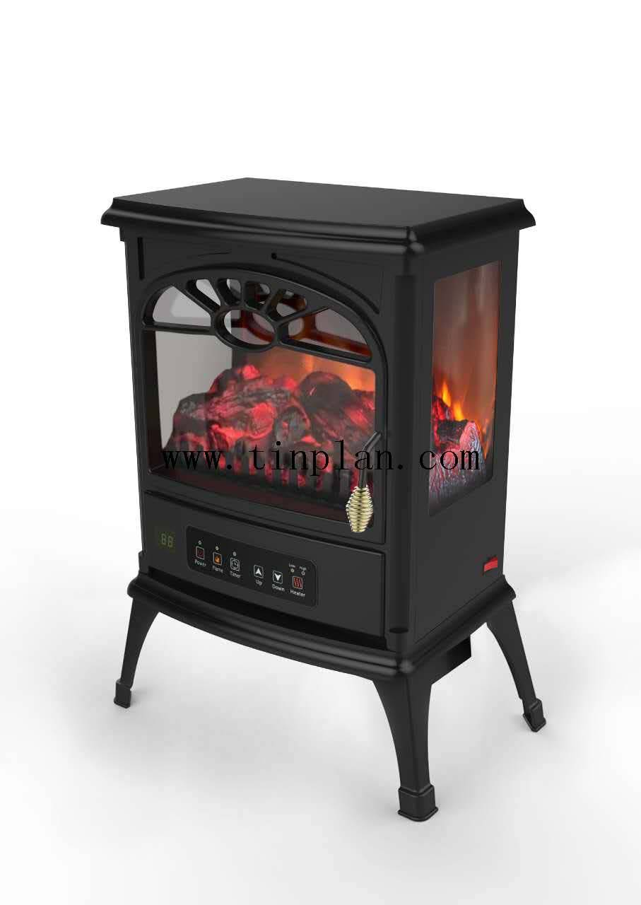 3side glass computer version modern fancy electric fireplace heater 850/1500W