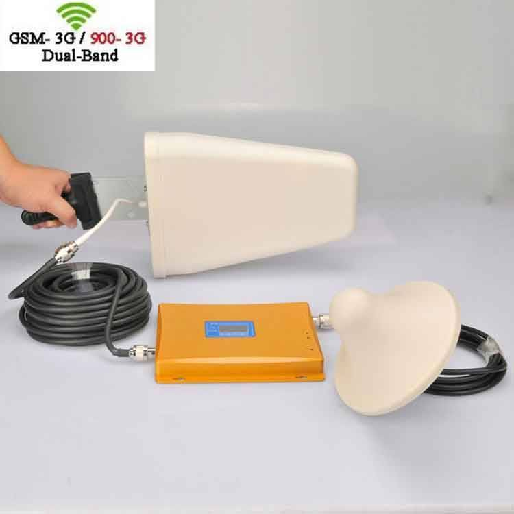 GSM 3G WCDMA 900Mhz 2100Mhz Mobile Cellphone Dual Band Signal Booster Amplifer Signal Repeater