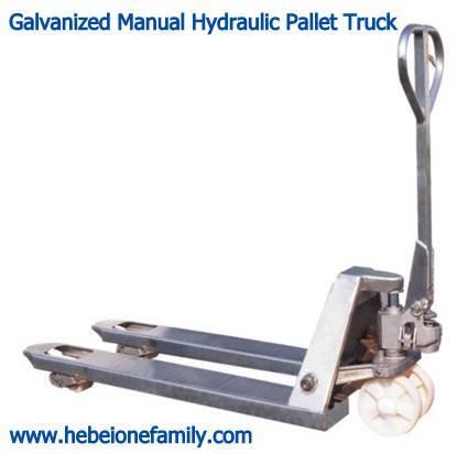 Galvanized Manual Hydraulic Pallet Truck