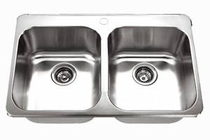 Topmount Double Bowl Kitchen Sink