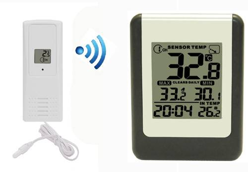 FT0084 Wireless 8 Channel Thermometer with Probe