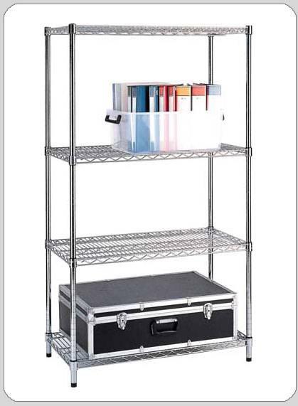 selling home furniture metal chrome shelves