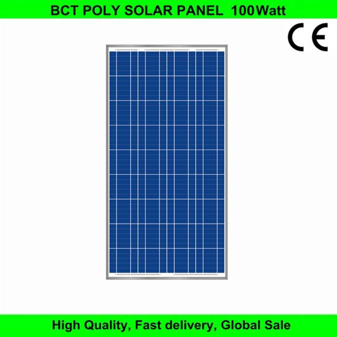 High quality 12v 100W poly solar panel