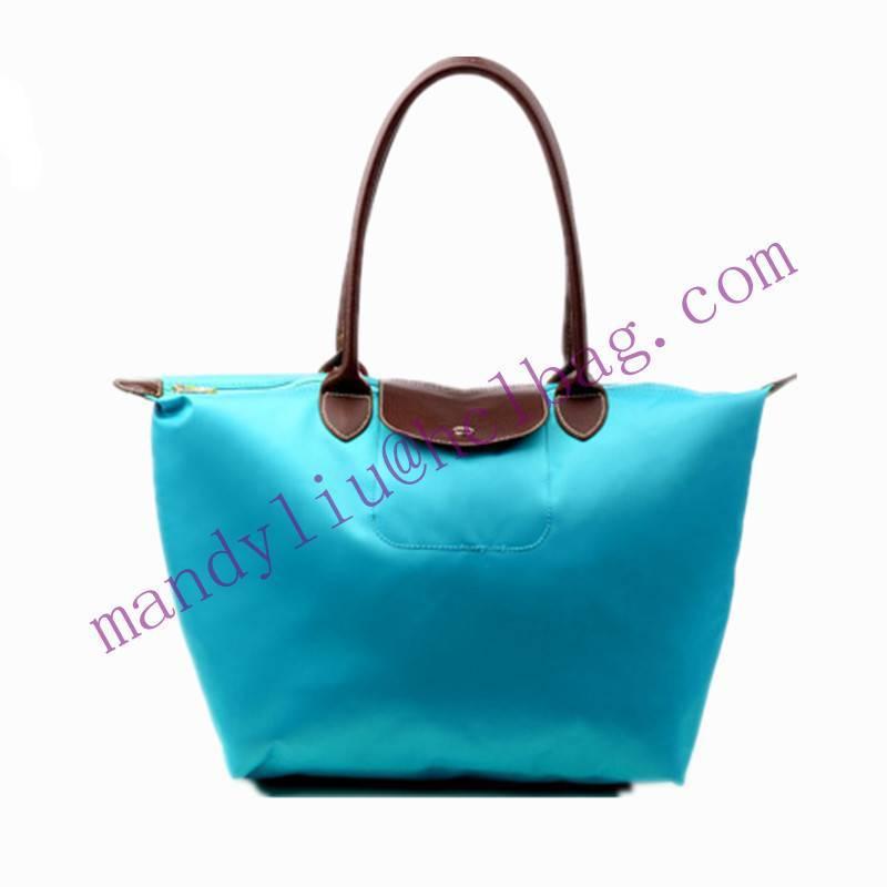 hot fashion lady nylon foldable shopping tote