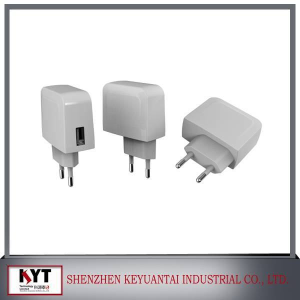 Wall charger usb 5V1A / 5V 2A USB charger for mobile phone with CE FCC ROHS