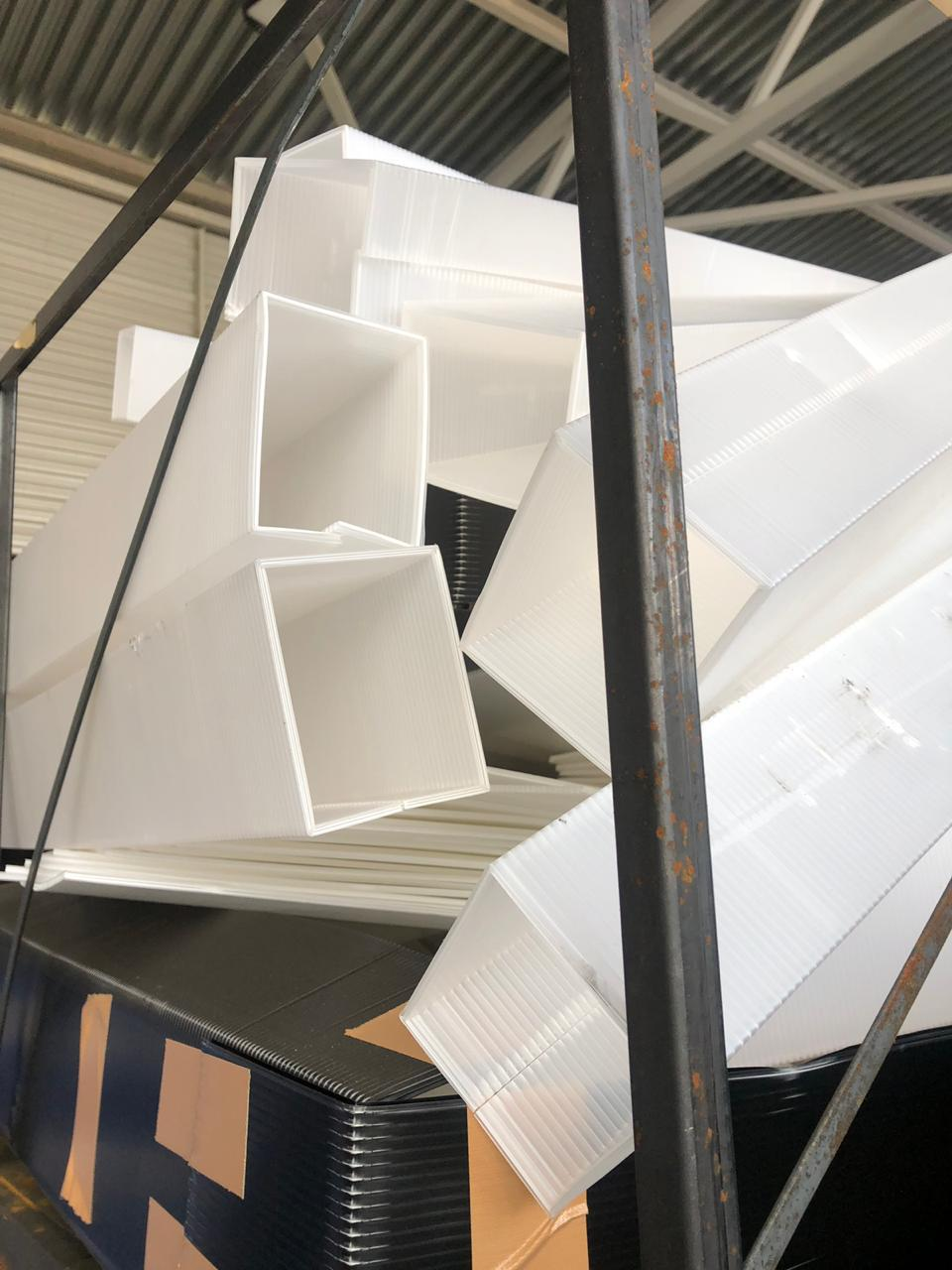 Porous PP cushioning sheets waste