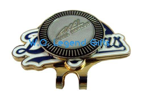 Golf cap clip ball marker