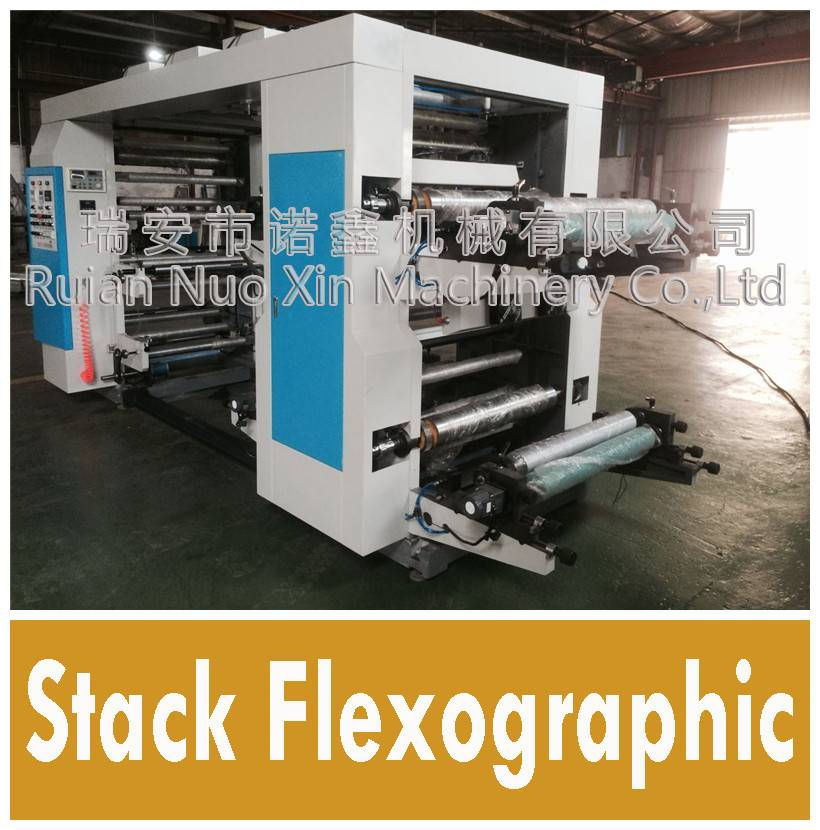 NUOXIN 4 Color Stack type flexo printing machine