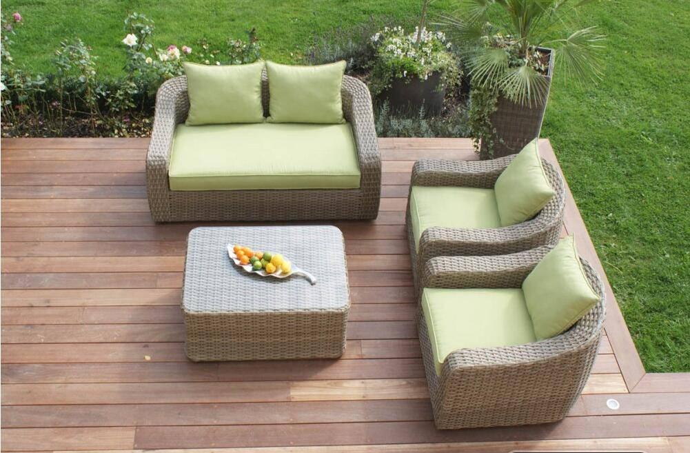 Elegant outdoor garden rattan sofa