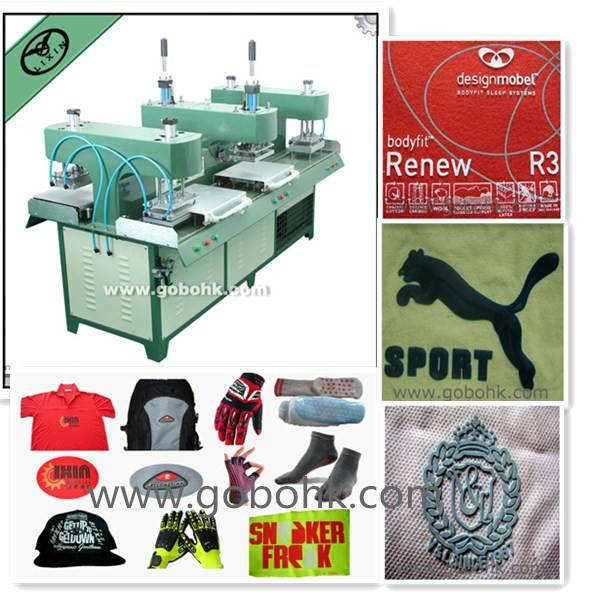 silicone rubber molding machine for embossing Clothing,shoes and hats with skateboard