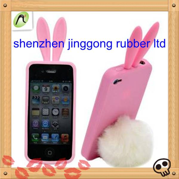 Loverly Rabbit-ear Silicone Phone Protective Case