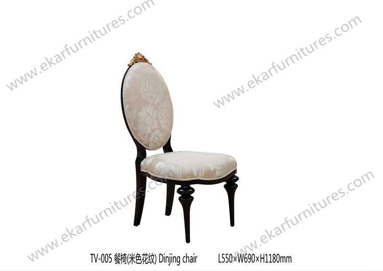 antique reproduction wood modern dining chair TV-005