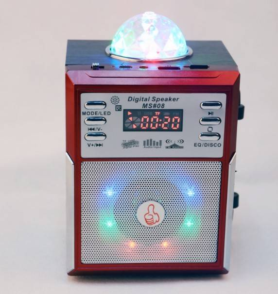 Colorful Wireless Wood Speaker with USB/TF Radio LCD MS#08