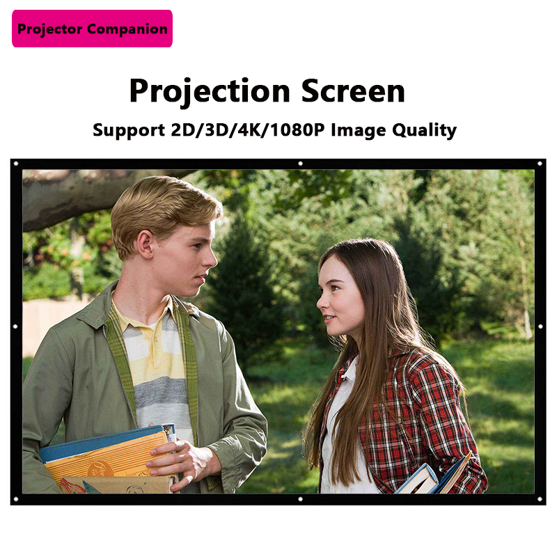 """100"""" 16:9 Matte White Projection Screen for Projector Uses"""