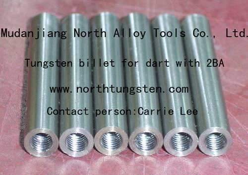 Tungsten billet for dart