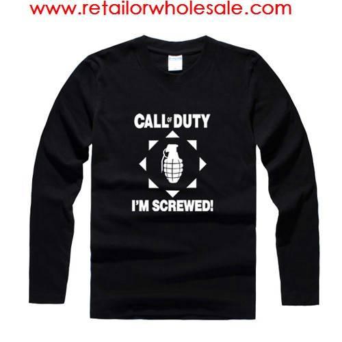 Wholesale Call of Duty Black Long Sleeve T-shirt Sweatshirt S/M/L/XL/XXL/XXXL