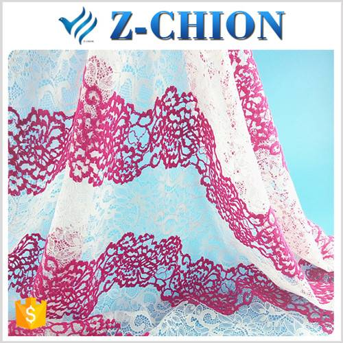 2016 New arrival polyester cotton african cord lace wedding dresses fabric