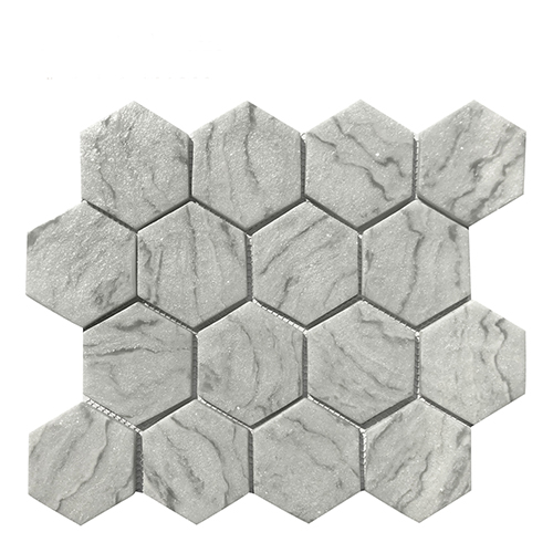 hexagon natural while mother of pearl mosaic tiles