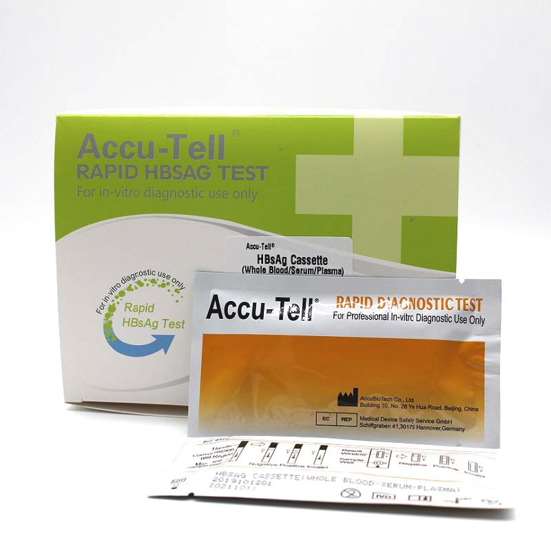 Accu-Tell® HBsAg Rapid Test Cassette/Strip (Whole Blood/Serum/Plasma)